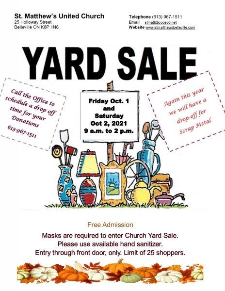 St. Matthew's Indoor Fall Yard Sale